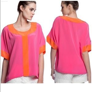Annie Griffin Silk Colorblock Hadley Blouse